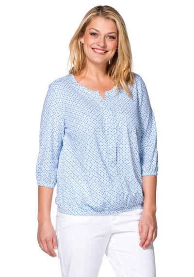 sheego Casual 3/4-Arm-Shirt, Gummibündchen an Arm- und Saumabschluss Sale Angebote Werben