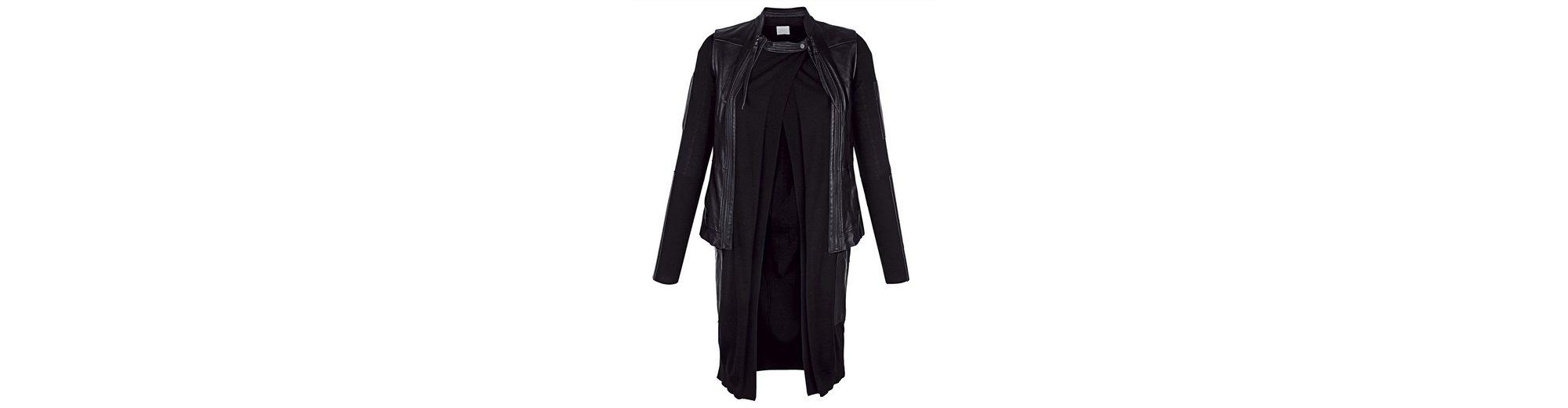 Alba Moda Lederweste mit Strickjacke auch einzeln tragbar Erkunden Günstigen Preis 8rDk2O