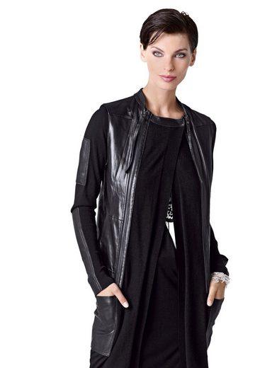 Alba Moda Lederweste mit Strickjacke auch einzeln tragbar