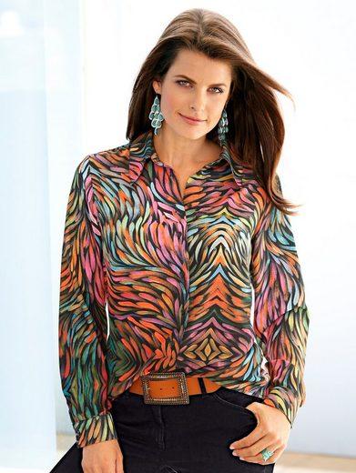 Mona Bluse mit farbenfrohem Druckdessin