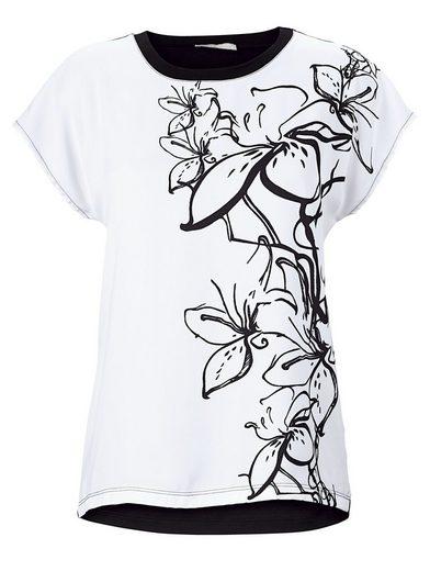 Mona Shirt im Materialmix