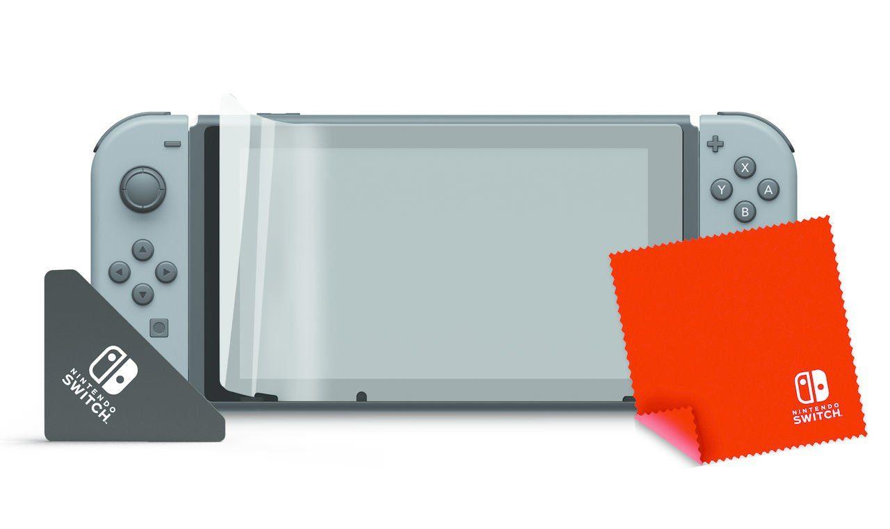 PDP Nintendo Switch - Zubehör »Nintendo Switch Bildschirmschutzfolie plus Tuch«