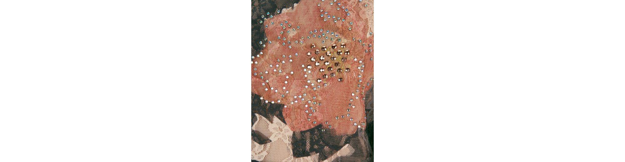 Mona Spitzenshirt mit Blumendruck und Strass-Steinen Spielraum Günstiger Preis Steckdose Breite Palette Von Spielraum Mit Kreditkarte Rabatt Kosten EHZvWiKa