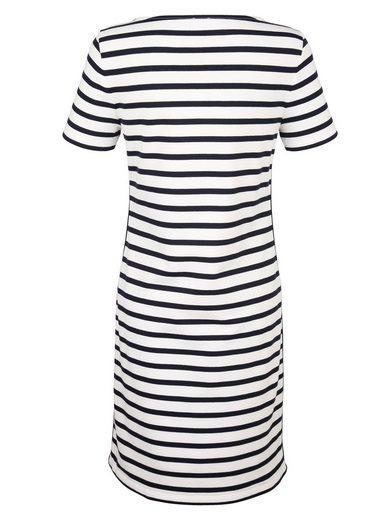 Alba Moda Jerseykleid im Ringeldessin