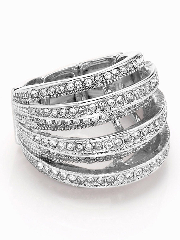 Alba Moda Ring in 7-reihiger Optik