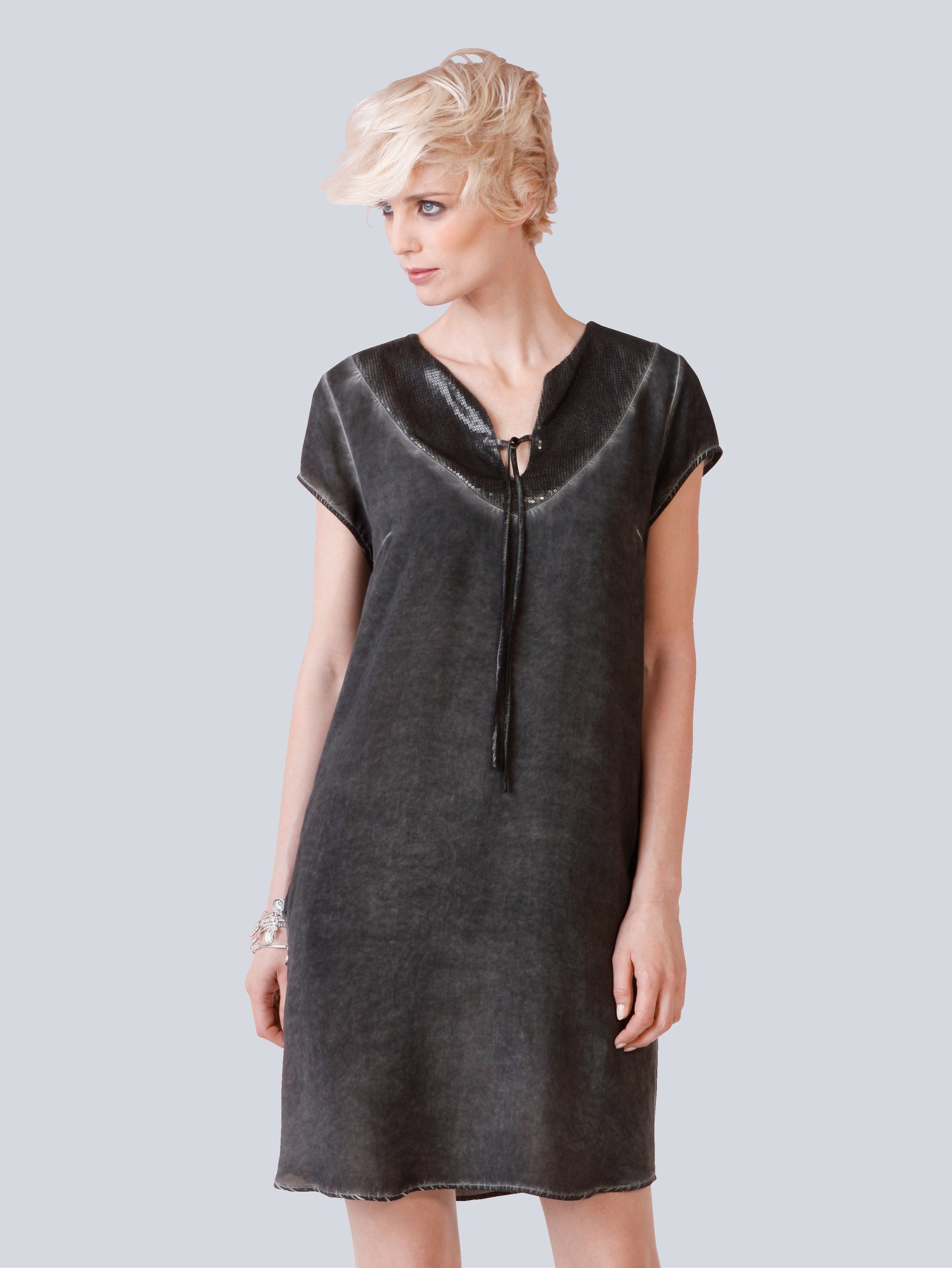 Vero moda kleid schwarz tull