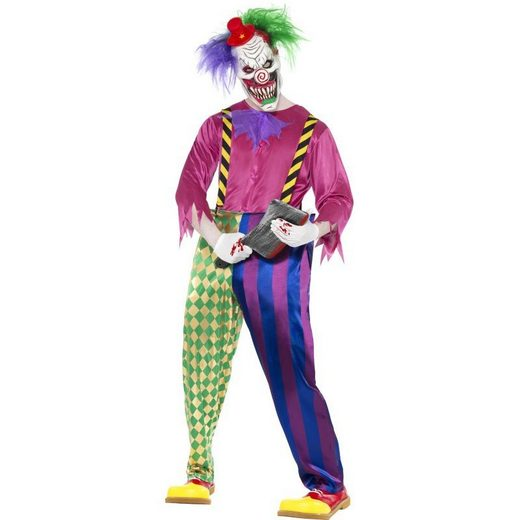 Horror Killer Clown Kostüm bunt