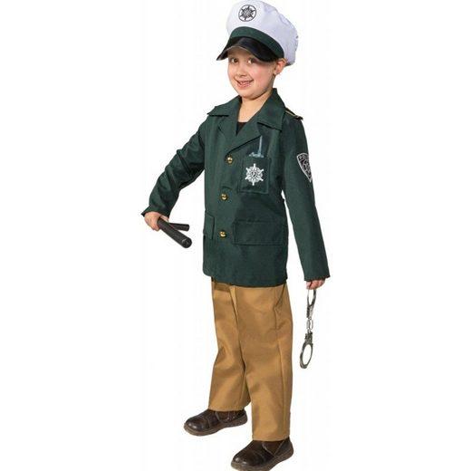 Polizisten Uniform grün Kinderkostüm