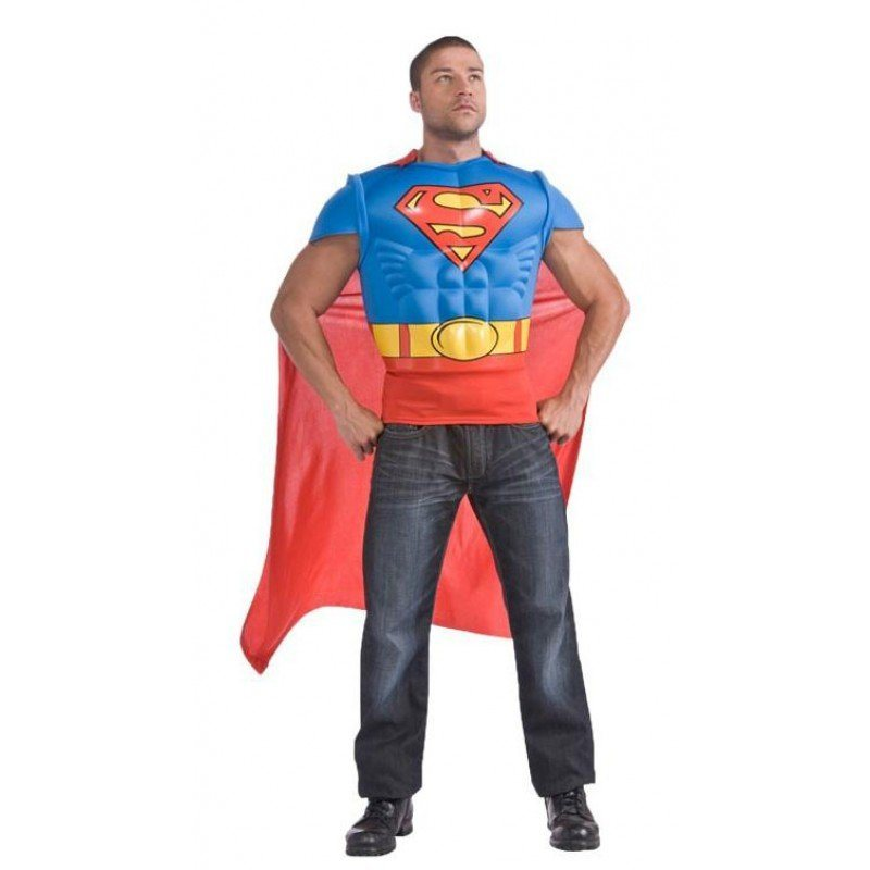 superman muskel shirt kost m f r erwachsene kaufen otto. Black Bedroom Furniture Sets. Home Design Ideas
