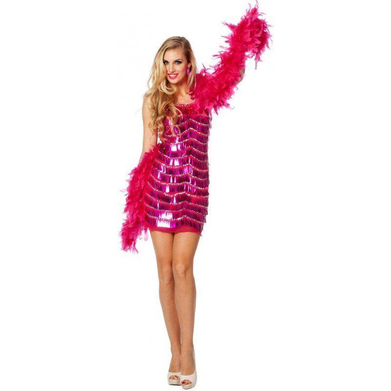 Pink Flapper Party Kleid