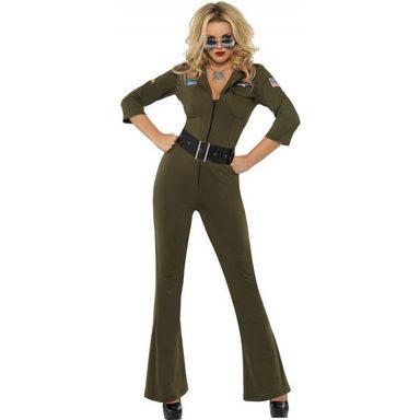 Sexy Top Gun Pilotin Kostüm