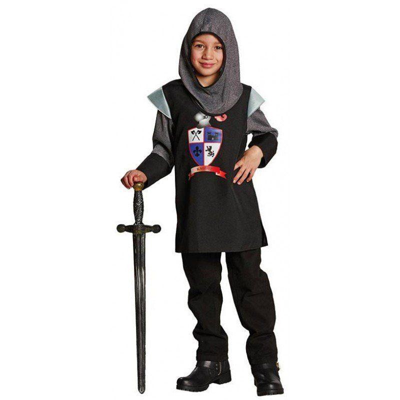 Unisex Ritter schwarze Lanze Kinderkostüm bunt,  mehrfarbig | 04002162609707