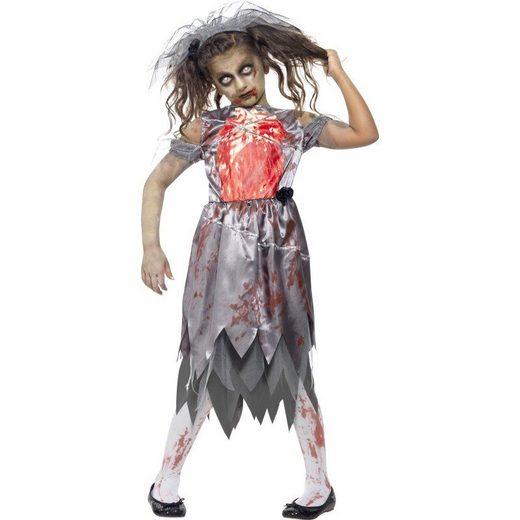 Zombie Braut Kostüm für Mädchen