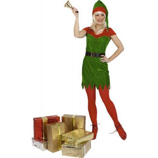 Santas Weihnachtselfe Damenkostüm