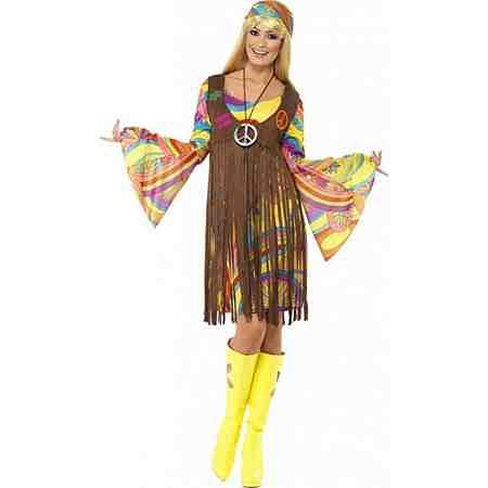70er Woodstock Hippie Lady Kostüm