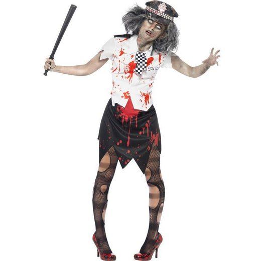 Zombie Polizeifrau Kostüm
