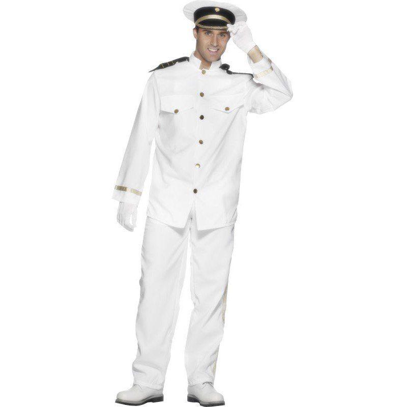 Herren,  Unisex Kapitänskostüm für Herren weiß | 05020570685778