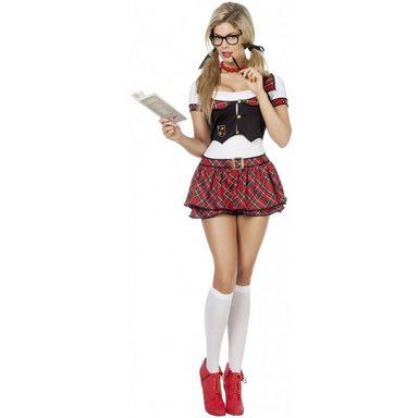 Sexy Nerd Schulmädchen Kostüm