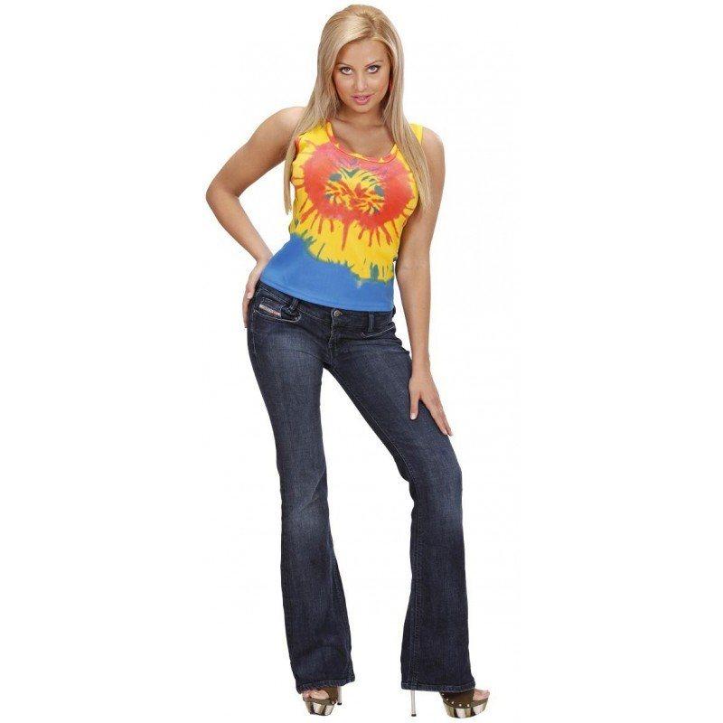 Hippie Batik-Top für Damen