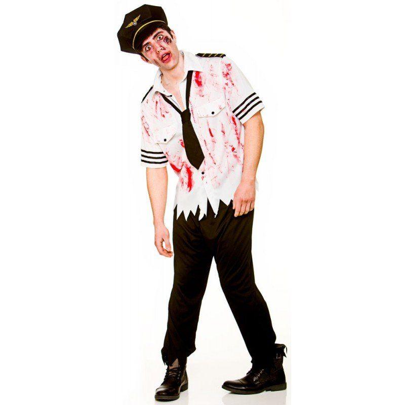 Unisex Undead Pilot Zombie Kostüm bunt,  mehrfarbig | 05055294856555