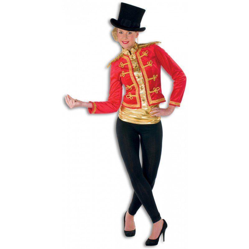 Zirkusdirektorin Dompteurin Premium Kostüm rot