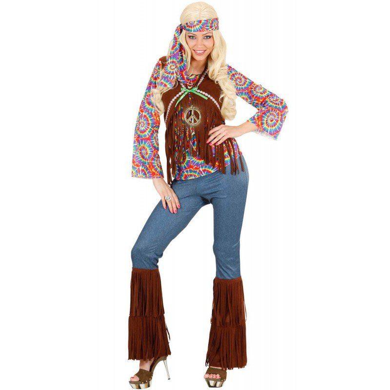 Damen,  Unisex Klassisches Hippie Kostüm Chill-Out für Damen bunt,  mehrfarbig | 08003558754236