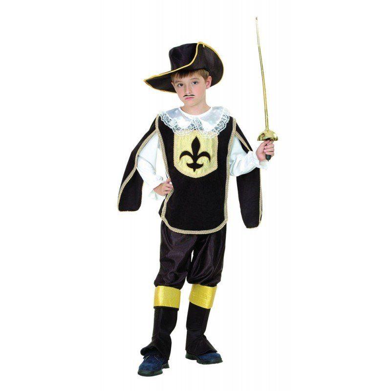 Musketier Kinderkostüm schwarz-gold