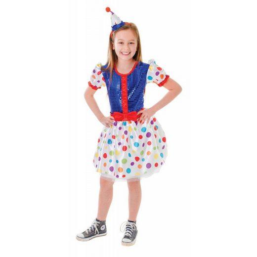 Gepunktete Clownin Kinderkostüm