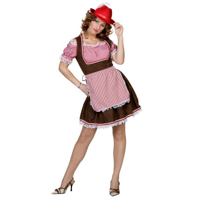 Unisex Uschi Tiroler Dirndl Kostüm braun | 08714438279366