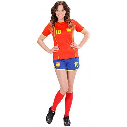 Fußballerin Fan-Girl Spanien Set