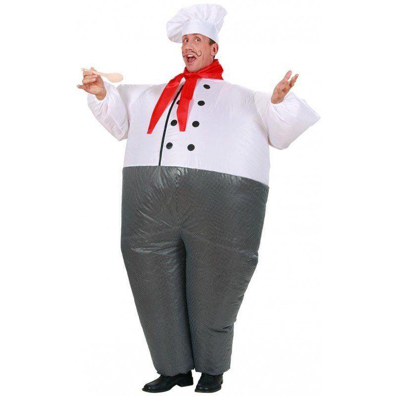 Aufblasbares Chefkoch Kostüm (Größe)