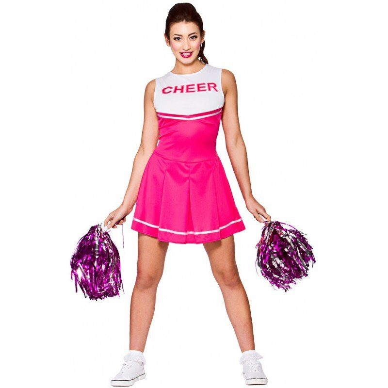 Katie High School Cheerleader Kostüm pink