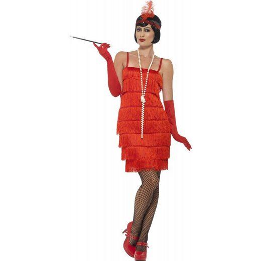 20er Jahre Marta Marie Flapper Kostüm rot