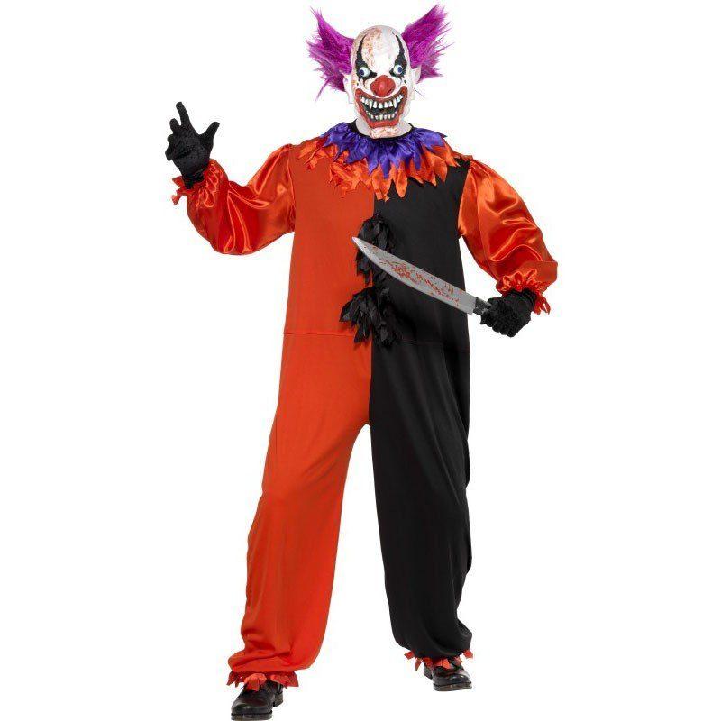 Unisex Scary Psycho Clown Kostüm schwarz-rot rot | 05020570869086