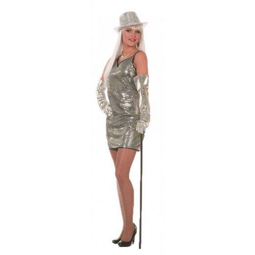 Disco Paillettenkleid in silber
