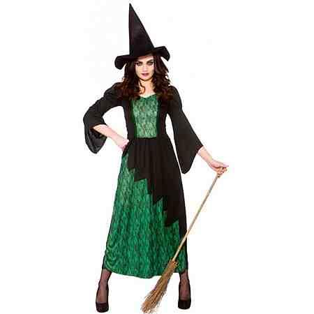 Magische Sumpfhexe Kostüm schwarz-grün