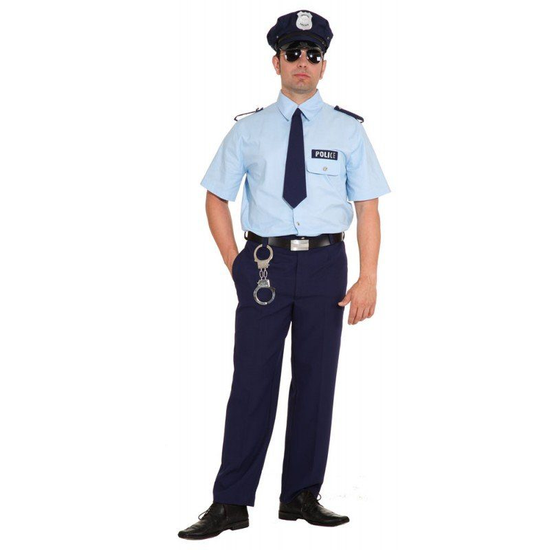 US Police Officer Uniform Herrenkostüm