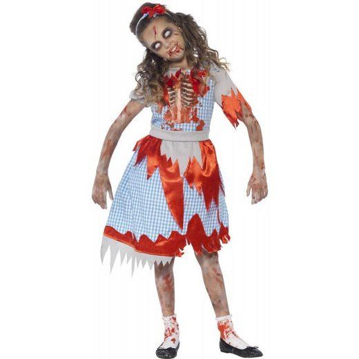 Zombie Landmädchen Kinderkostüm