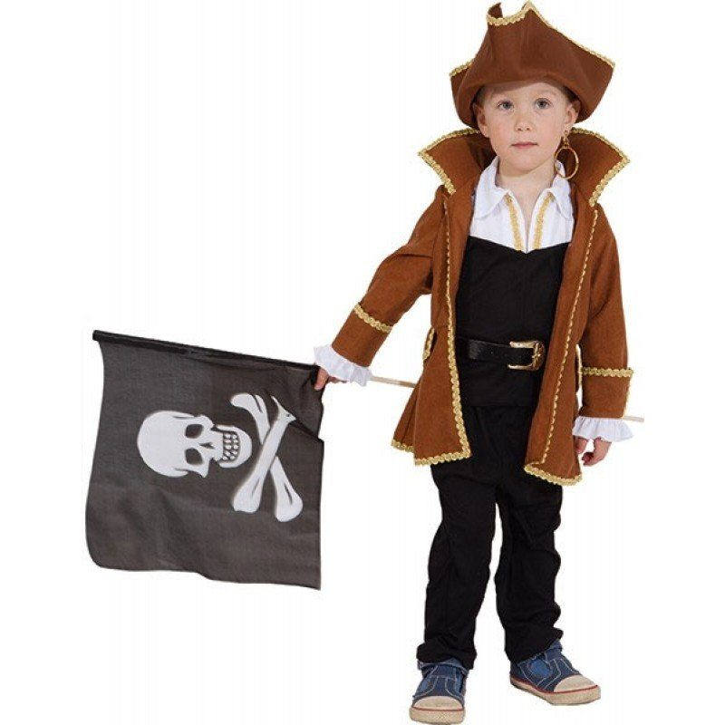 Unisex Piratenjunge Mike Kinderkostüm braun | 04015101531915