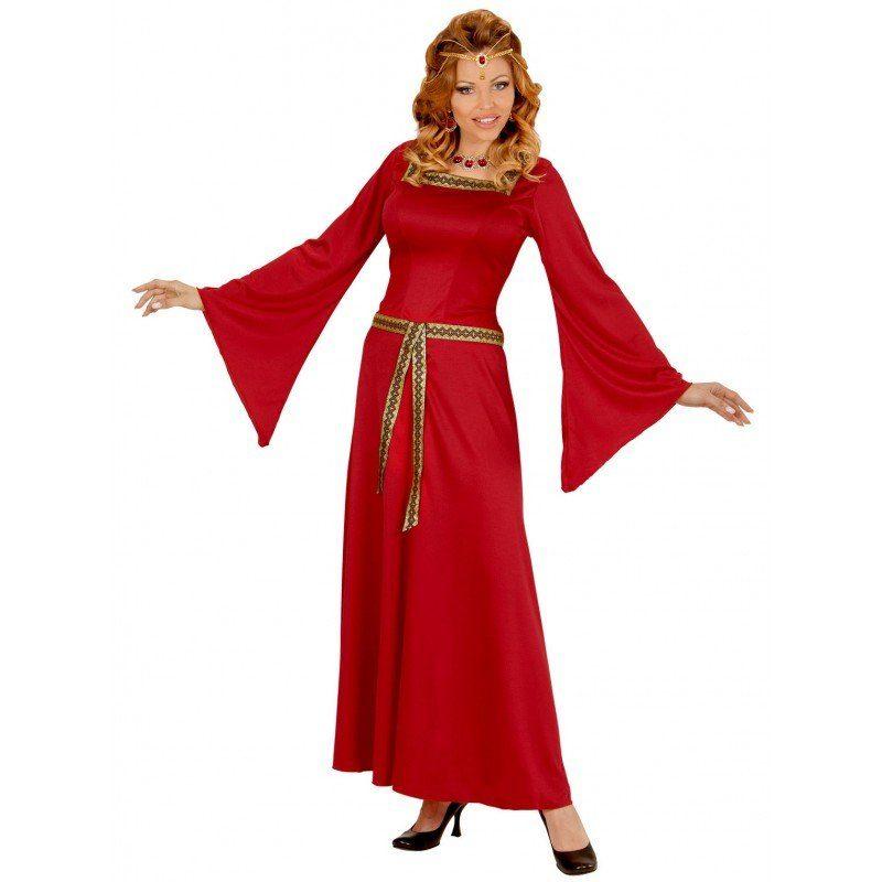 Königliches Burgfräulein Kostüm für Damen
