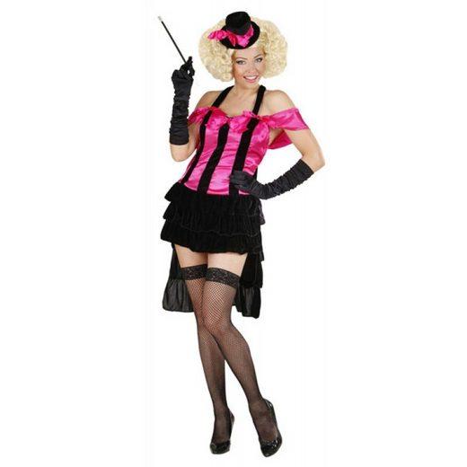 Burlesque Kostüm Tänzerin schwarz-pink