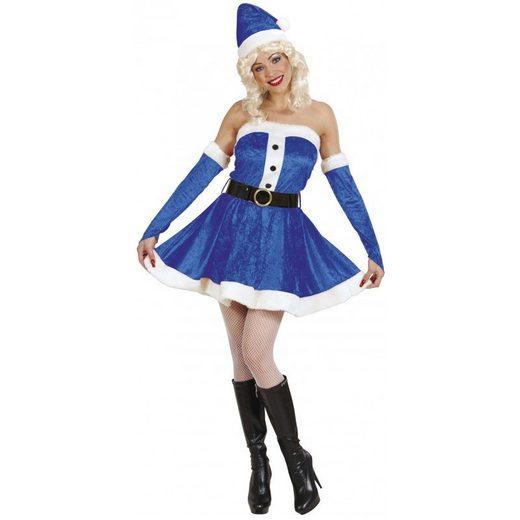 Miss Santa Kostüm blau