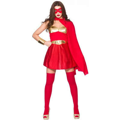 hot superhero damenkostum rot