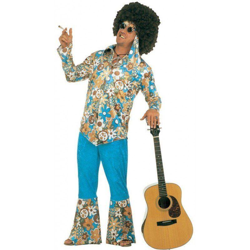 Herren,  Unisex Hippie Jimmy Kostüm für Herren bunt,  mehrfarbig | 08003558317103