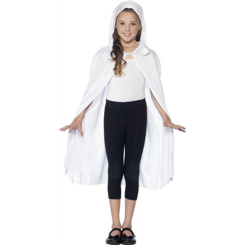 Weißer Kapuzenumhang für Mädchen und Jung (Größe )