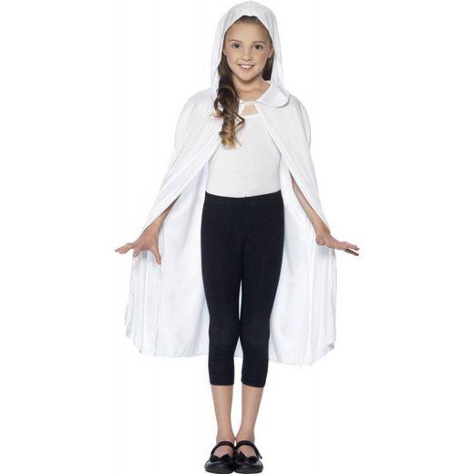 Weißer Kapuzenumhang für Mädchen und Jung (Größe)