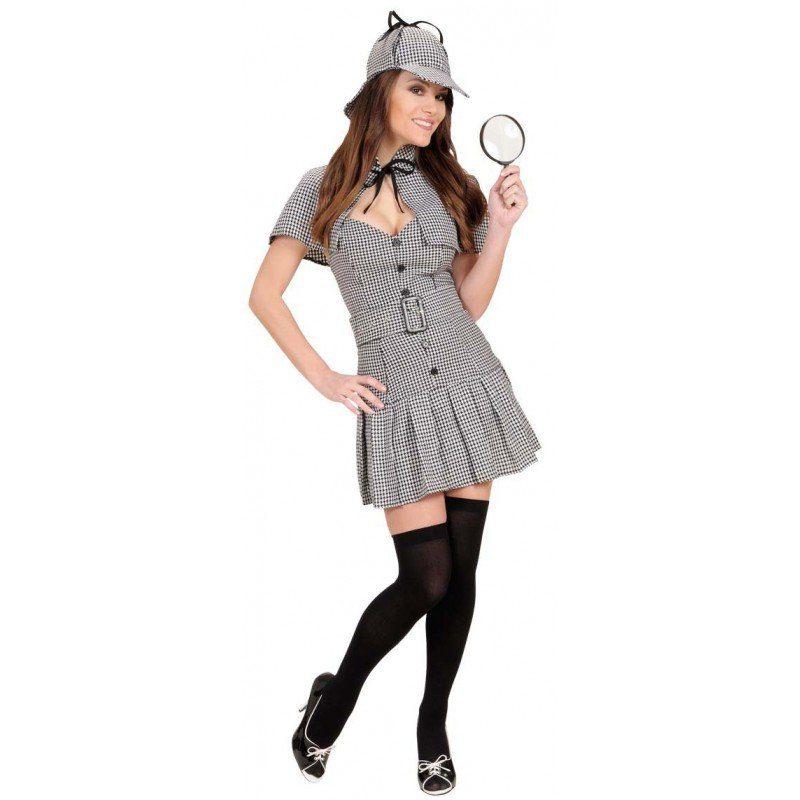 Damen,  Unisex Sexy Detektivin Engländerin Kostüm für Damen bunt,  mehrfarbig | 08003558720439