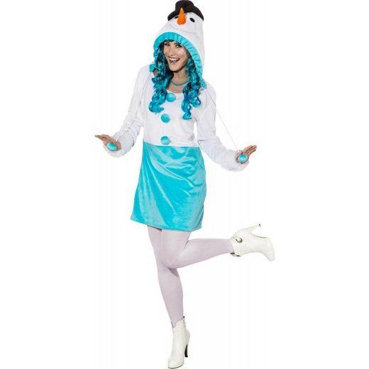 Süßes Schneefrau Kleid für Damen