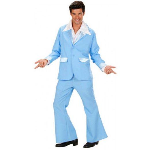 70er Jahre Party Anzug Womanizer in hellblau
