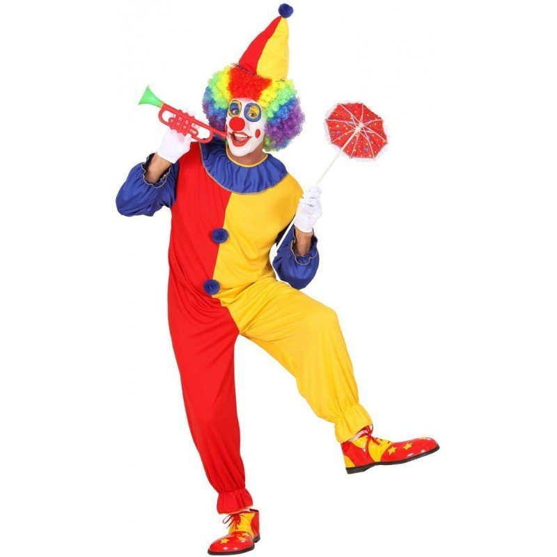 Klassisches buntes Clown Kostüm für Herren kaufen | OTTO